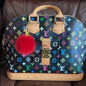 SOLDGorgeous Auth Louis Vuitton multicolor Alma gm